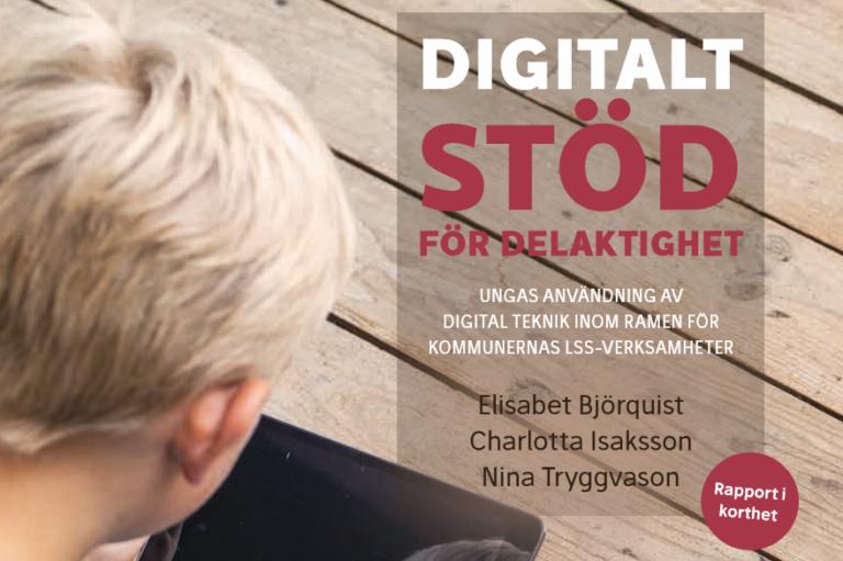Rapportomslag för rapporten digitalt stöd för delaktighet
