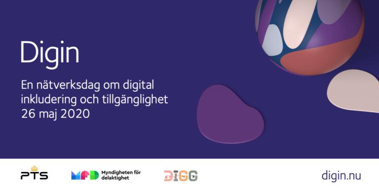 Nätverksdagen Digin ett digitalt arrangemang öppet för alla logga
