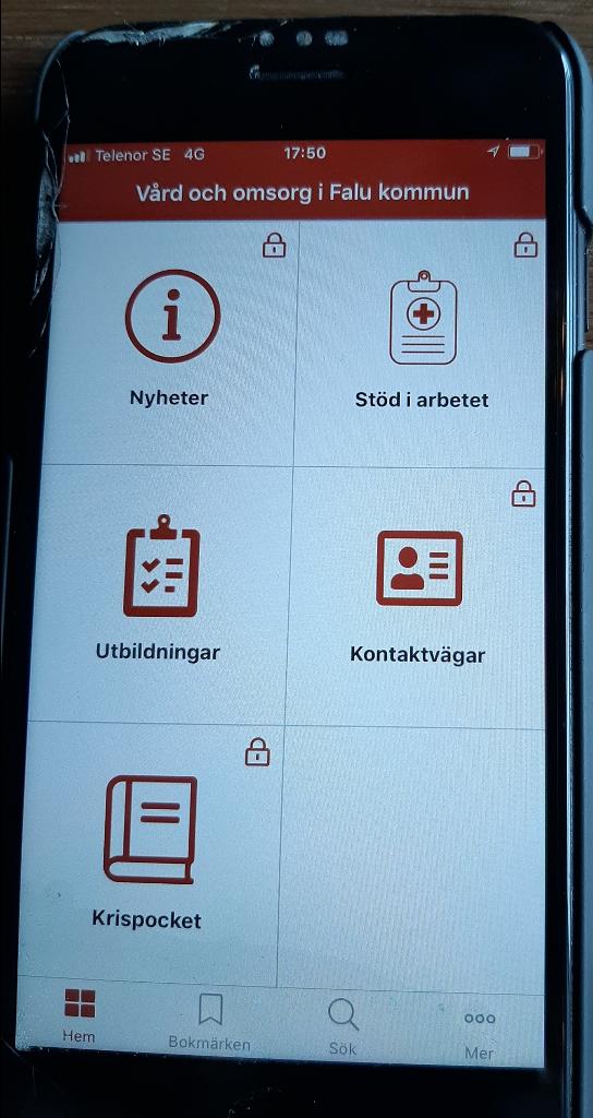 Appen med aktuell vägledning och information för vård och omsorg i Falun