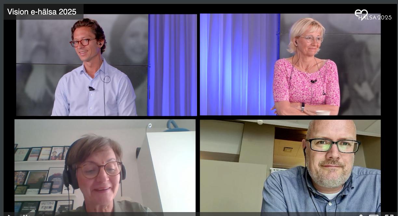 Vision e-hälsa 2025 seminarium medverkande talare