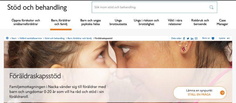 Nacka webbsida