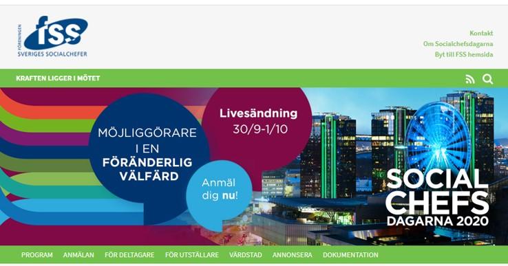 Möjliggörare i en föränderlig värld Socialchefsdagarna arrangeras av FSS den 30/9 - 1/10