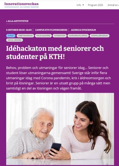 Idé hackaton med seniorer och studenter på KTH