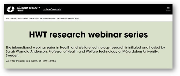 Health and Welfare technology research webinar