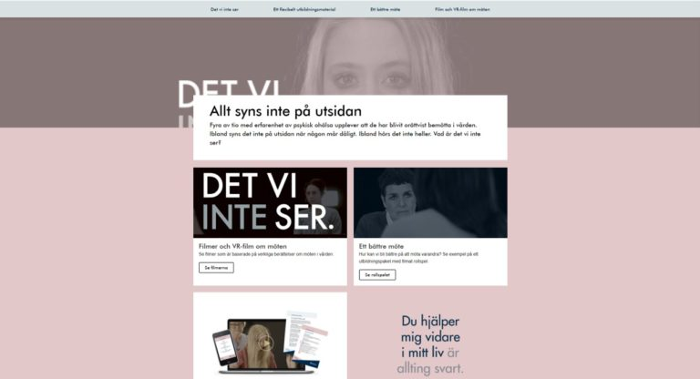 Skärmdump från socialstyrelsens webb. Allt syns inte på utsidan, det vi inte ser