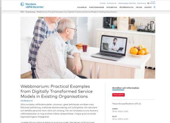 Webbinarium: Practical Examples from Digitally Transformed Service Models in Existing Organisations