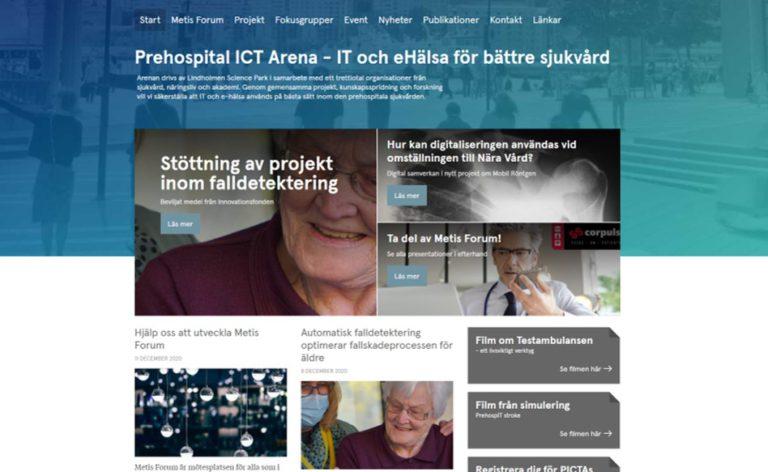 Skärmdump från PICTAs webb