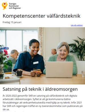 SKRs Kompetenscenter välfärdsteknik Nyhetsbrev