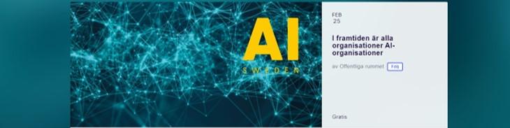 Offentliga rummet AI I framtiden är alla organisationer AI-organisationer