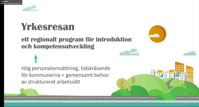 Yrkesresan ett program för introduktion och kompetensutveckling