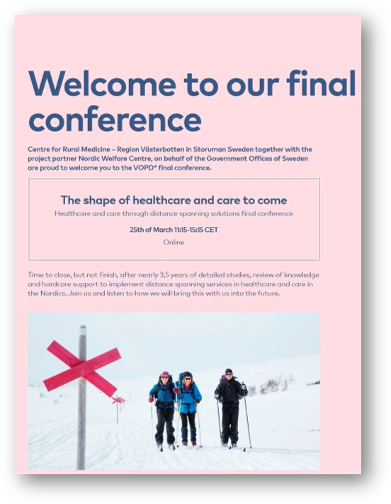 Welcome to our final conference