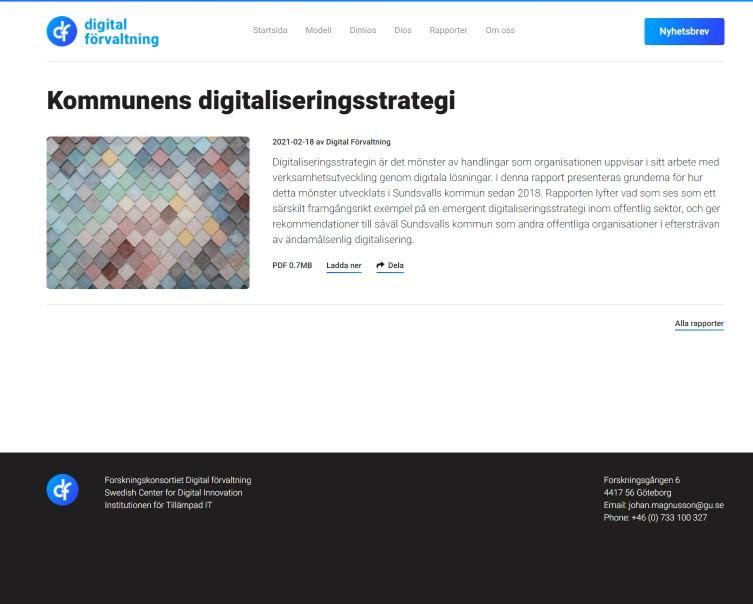 Kommunens digitaliseringsstrategi Digital förvaltning