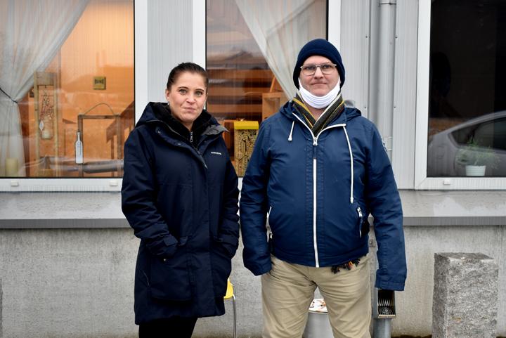 Annie Strand, teknikansvarig på Språnget media och teknikmentor Pelle Karlsson
