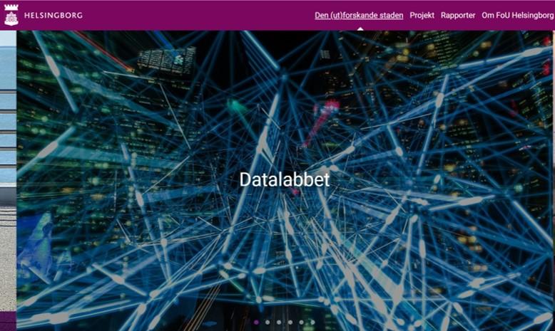 Datalabb för djupare förståelse för att kunna skapa bättre och mer anpassade tjänster för invånarna i Helsingborg