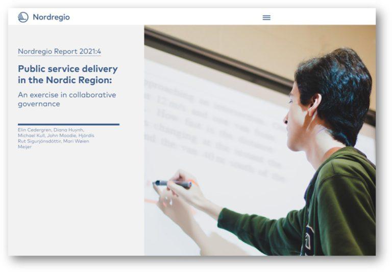 Nordregio report 2021:4 Public service delivery in the nordic Region