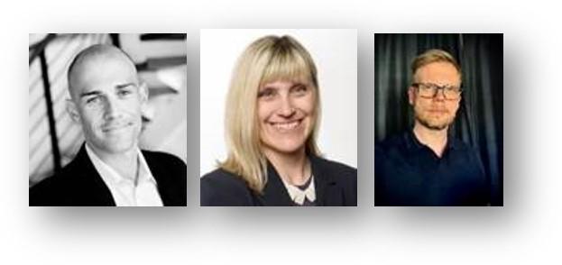 Matt X. Richardson, Fil Dr. Senior forskare i hälso- och välfärdsteknik, MDH. Christina R Åkerman, Leg läkare, Med Dr. Ordförande i rådgivande nämnden EIT Health High Value Care Forum, Tomas Lindroth, Fil Dr., Göteborgs universitet.