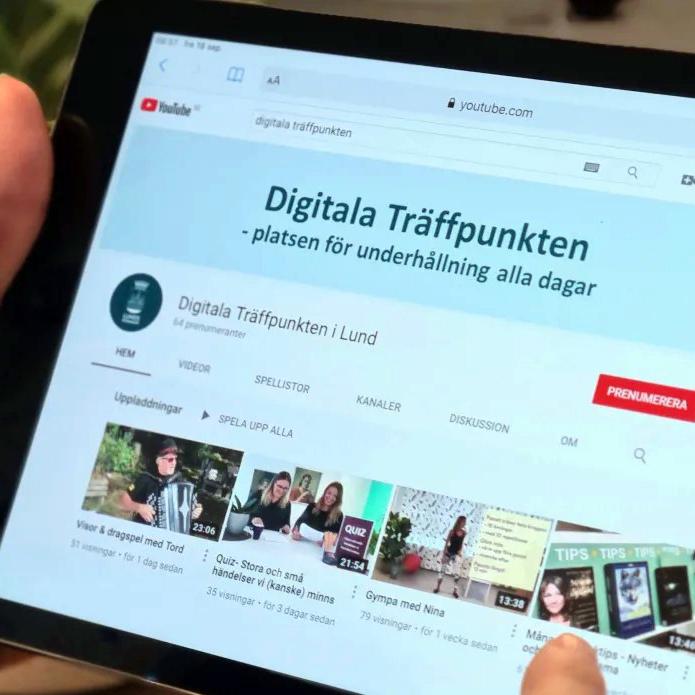 Digitala träffpunkten Lund Sveriges e-Hälsokommun