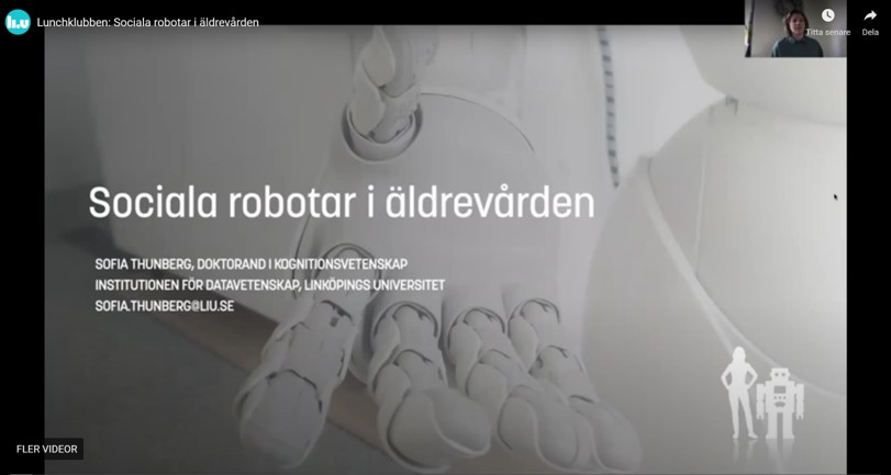 Sociala robotar i äldreomsorgen