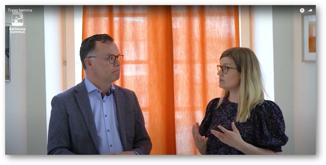 Trygg Hemma Förvaltningschef Johan Lindström och Utredare Maria Andersson pratar om verksamhetsförstudien.