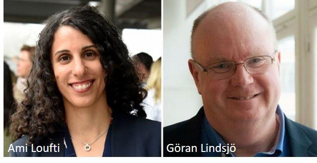 Amy Loutfi, professor ochvice rektor för AI på Örebro Universitet samt Göran Lindsjö, Governo AB, internationell rådgivare inom strategiska AI-frågor.