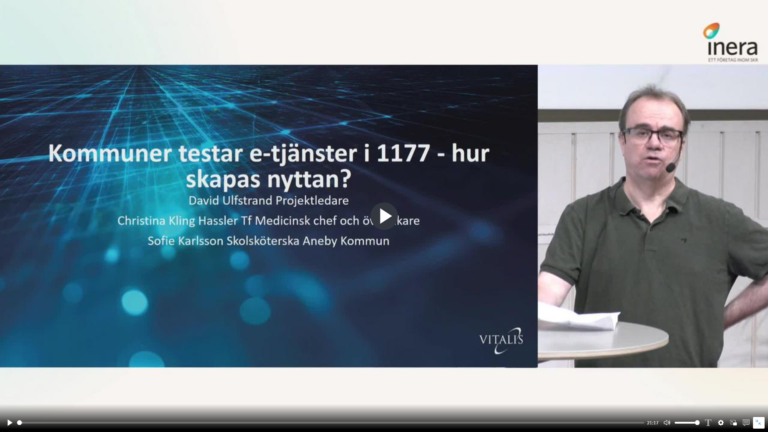 Vitalis: Kommuner testar e-tjänster i 1177.se