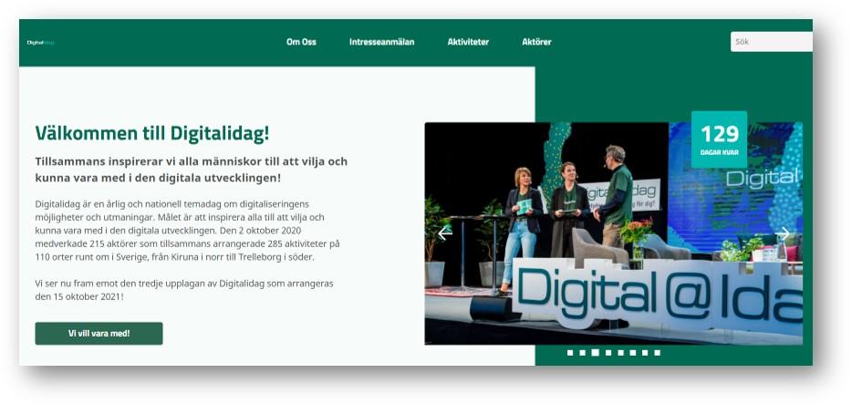 Välkommen till Digitalidag! Tillsammans inspirerar vi alla människor till att vilja och kunna vara med i den digitala utvecklingen!