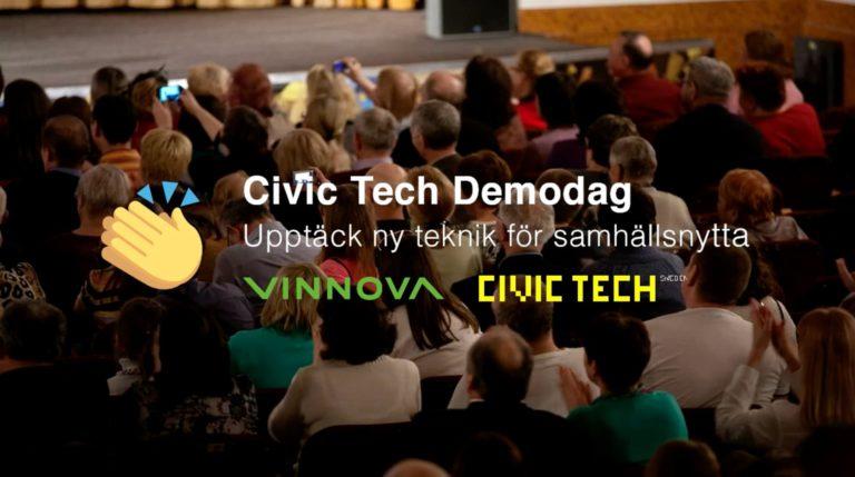Civic Tech demodag. Upptäck ny teknik för samhällsnytta. VINNOVA Civik Tech.