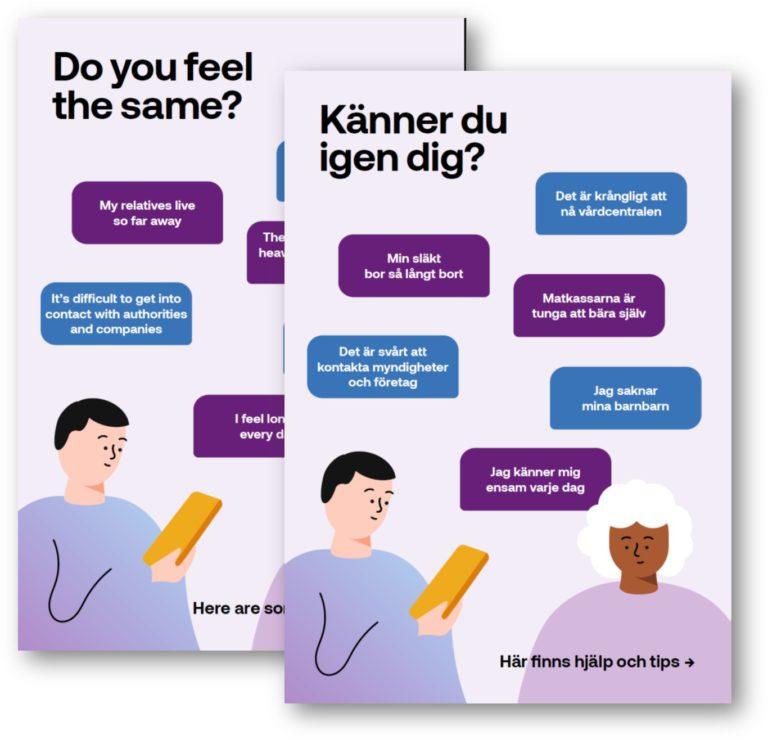 Do you feel the same? Känner di igen dig? PTS Digitalhjälpens broschyrer