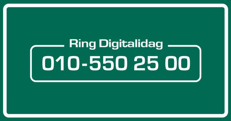 Ring Digitalidag 010-550 25 00
