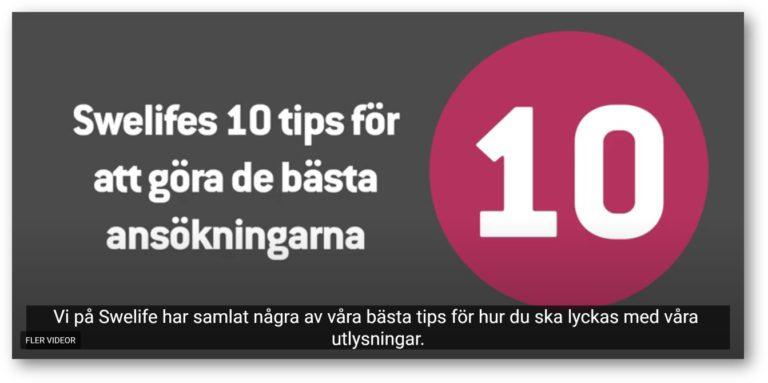 Swelifes 10 tips för att göra de bästa ansökningarna