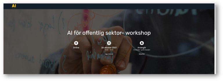 AI för offentlig sektor - workshop